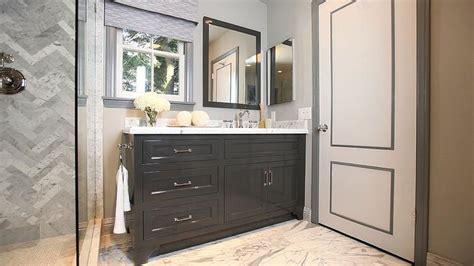 gray door moldings contemporary bathroom jeff lewis