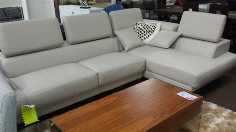 t60 ultra modern grey leather sectional sofa