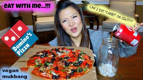 domino pizza vegan domino s pizza mukbang vegan youtube