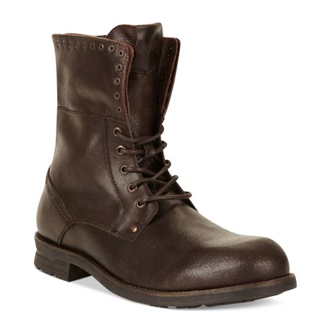 mens boots guess mens shoes differ boots in brown for brown