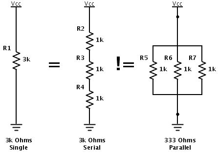 ohm resistor parallel serial and parallel resistors yaab