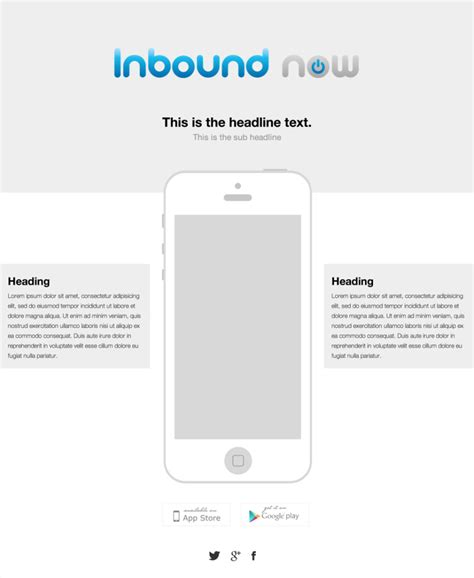 Iphone App Landing Page Inbound Now Marketplace Iphone App Landing Page Template