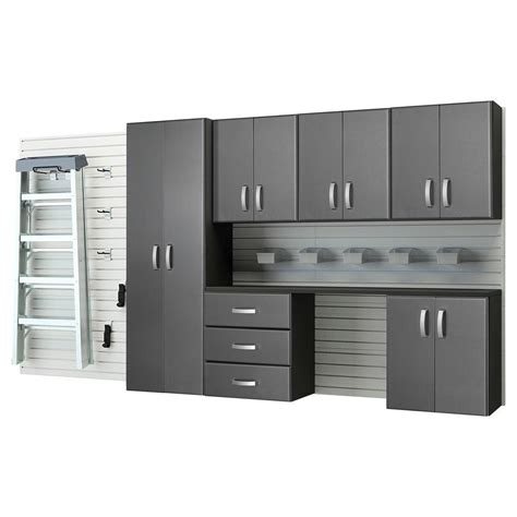 garage wall cabinets home depot flow wall deluxe 72 in h x 144 in w x 17 in d wall