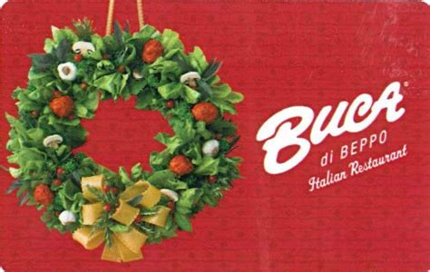 Buca Gift Card - buca di beppo holiday gift card 25 business industrial retail