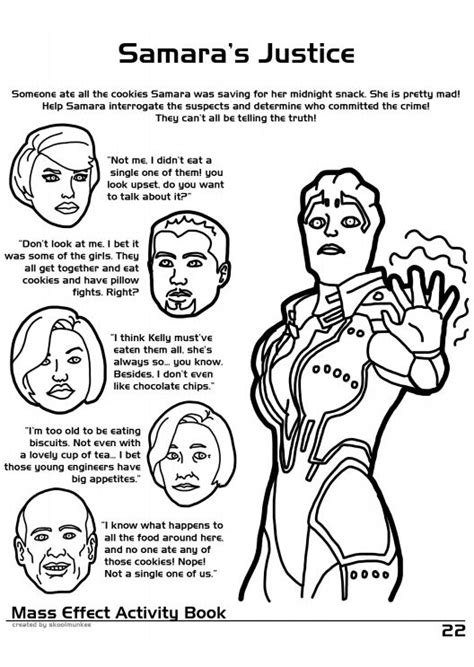 coloring book effect free mass effect coloring and activity book 30 pics