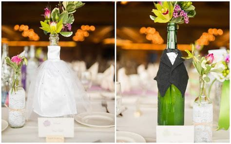 Handmade Centerpieces For Weddings - 20 creative wine bottle centerpieces hative