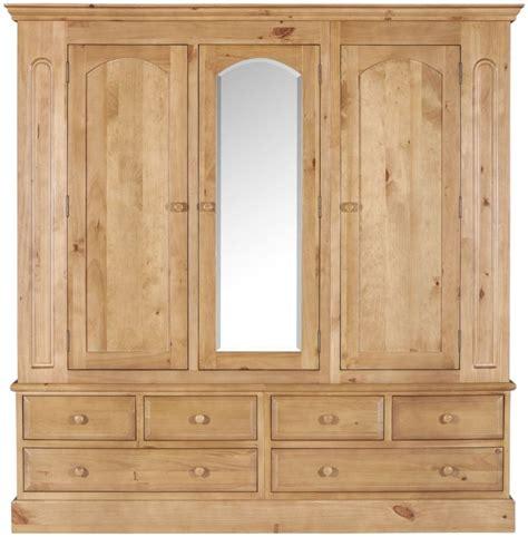 Wooden Wardrobe With Mirror Welland Pine Wardrobe With Mirror Mundayandcramer