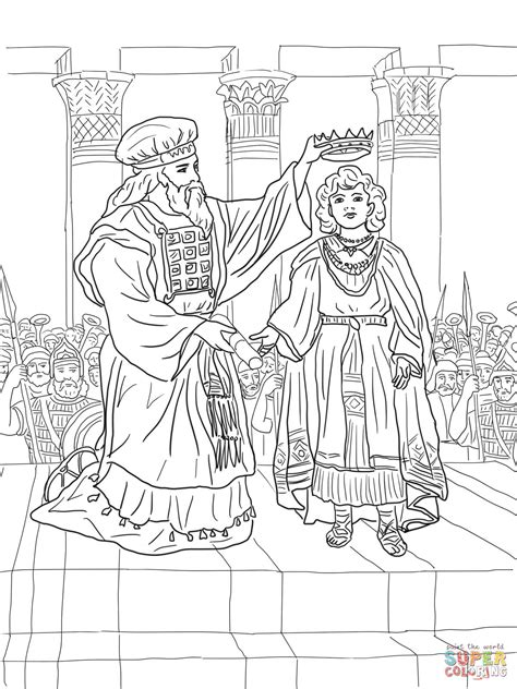 Coloring Pictures Of King Joash | king joash crowned coloring page free printable coloring