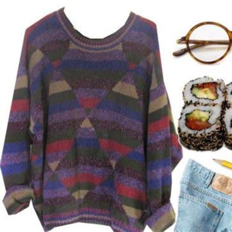 pattern sweaters tumblr sweater tumblr sweater grunge triangle pattern