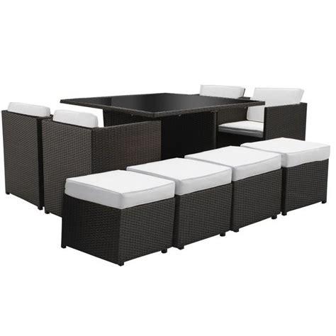 bianchi arredo arredo con tavolo con sedie beth quadrato nero cuscini