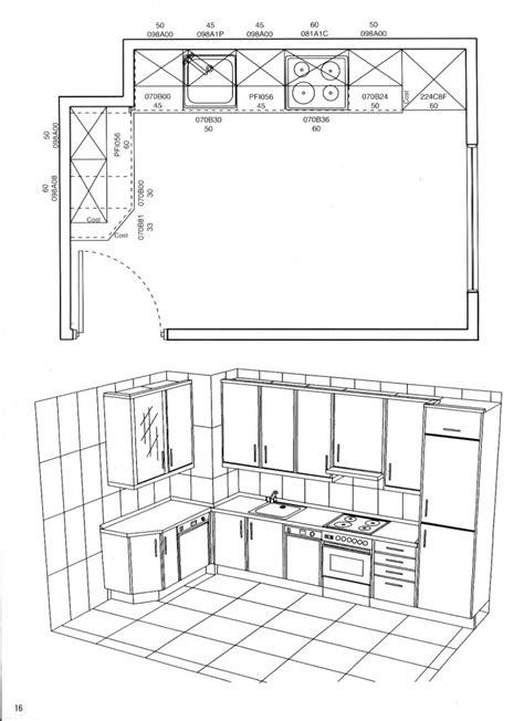 cocinas planos planos de cocina dise 241 o de cocinas