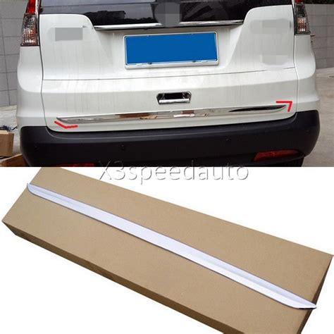 honda crv cr    chrome tailgate rear trunk hatch  lid trim pcs car styling
