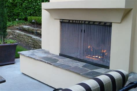 Outdoor Fireplace Screens by Outdoor Fireplace Screen Patio Portland