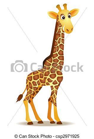 Imagenes Jirafas Caricaturas   stock de ilustrationes de divertido jirafa caricatura