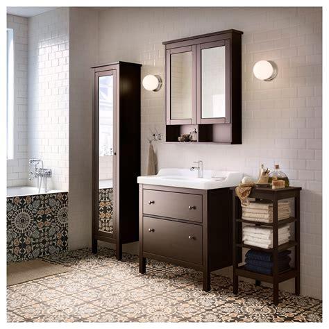 ikea hemnes badezimmer eitelkeit hemnes shelving unit black brown stain 42x84 cm ikea