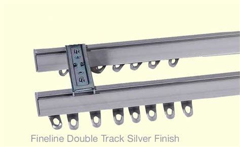 curtain track double fineline bendable double curtain track standard top fix
