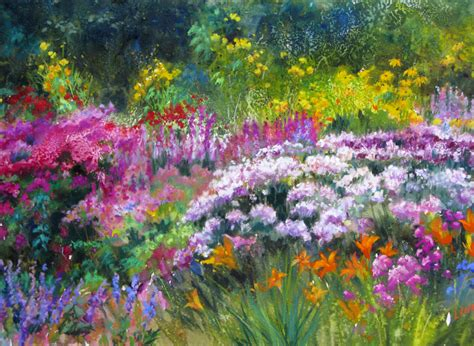 Quot Glorious Garden Quot Paintings Of Flower Gardens
