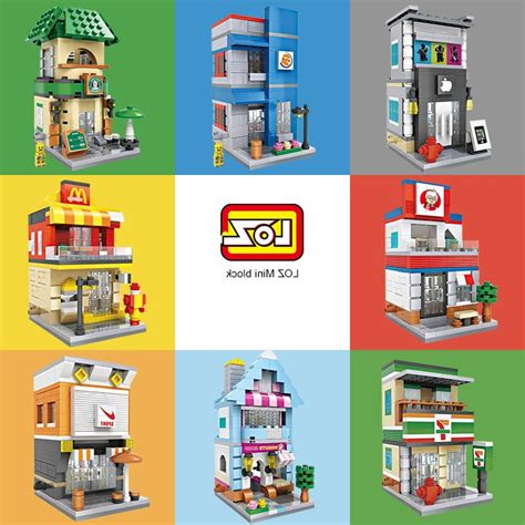 Loz Mini 1601 Convenience Store aliexpress buy 2017 new loz mini blocks shop diy building toys micro store