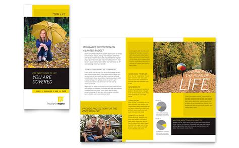 magazine template microsoft publisher insurance agent tri fold brochure template design
