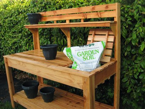 pictures of potting benches custom raised gardens