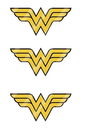 wonder woman symbol printables pictures to pin on
