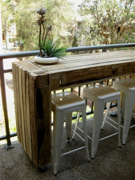 Narrow Outdoor Bar Table Design Ideas For Recycle And Use Pallets With Narrow Bar Table Made Entirely Of