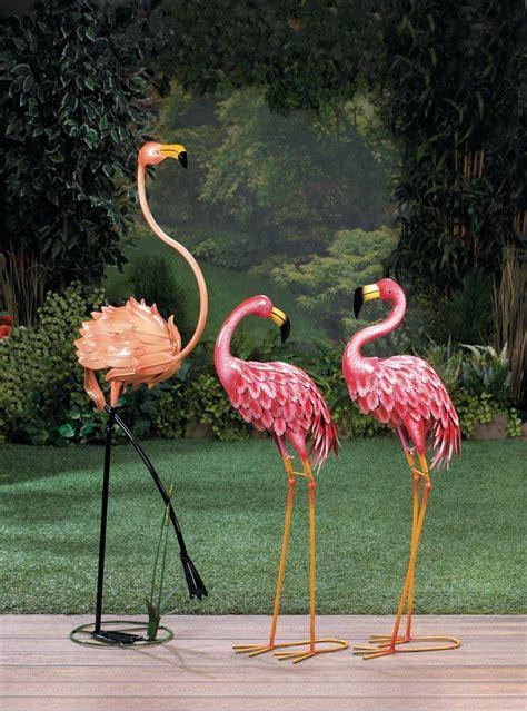standing flamingo garden decor distinctive merchandise