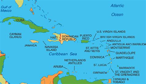 map of caribbean with country names speaking countries maps