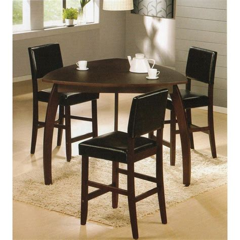 Solid Wood Bar Table And Stools by 4pc Triangle Solid Wood Bar Table And Stools Set This