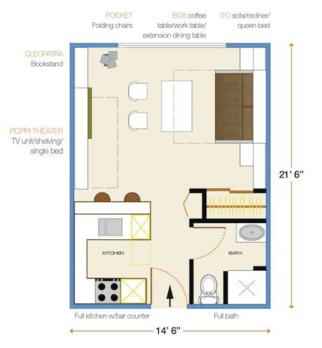 300 sq ft apartment floor plan how to furnish a 300 sf apartment for new york fill it with transformer furniture treehugger