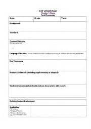 english worksheets siop lesson template