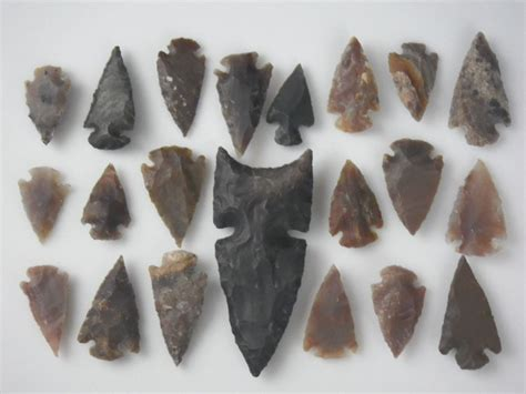 Handmade Arrowheads - flint handmade arrowhead collection spearhead