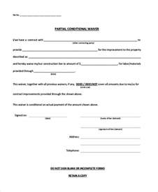 partial lien waiver template 21 print release form exles