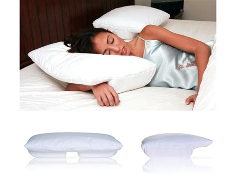 perfect comfort memory foam side sleeper pillow small better sleep pillow cream velour cover