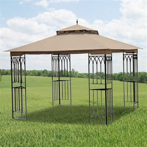 Steel Frame Gazebo Replacement Canopy For Steel Frame 10x10 Riplock 350