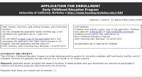 How Much Is The Application Fee For Berkeley Mba Program by Enrollment Information Early Childhood Education Program