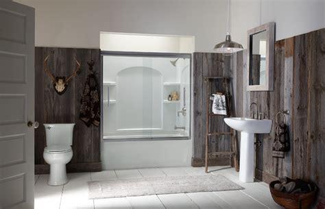 sterling bathroom bathroom rustic bathroom by sterling plumbing