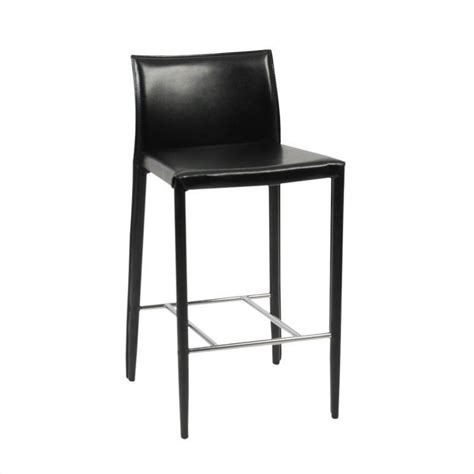 26 inch high bar stools shelby 26 quot leather counter stool in black 0236x