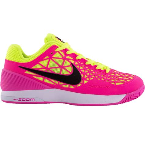 nike tennis shoes nike zoom cage 2 s tennis shoe white pink volt