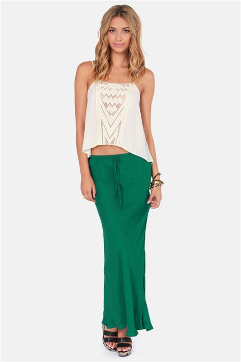 emerald skirt green skirt maxi skirt 55 00