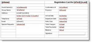 Registration Card Template Word by Registration Card Template Word