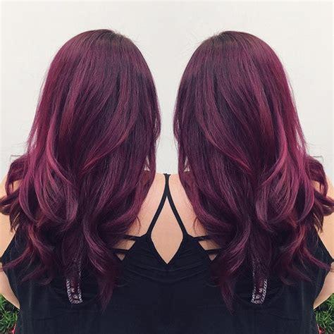 reddish purple hair color purplish auburn hair brown hairs