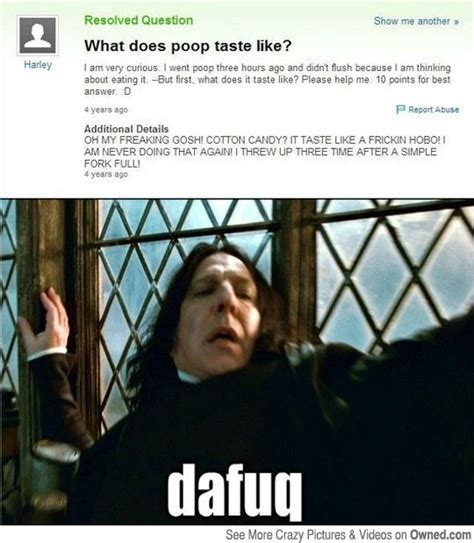 Funny Dafuq Memes - what does poop taste like funny pictures pinterest