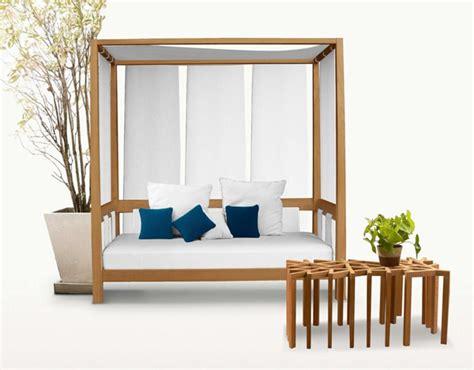 wooden outdoor furniture designs by deesawat green wall