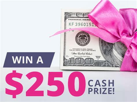 Cash Prize Sweepstakes - win a 250 cash prize sweepon com