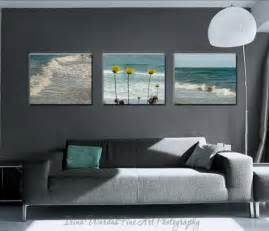 coastal wall set of 3 canvas wraps teal living