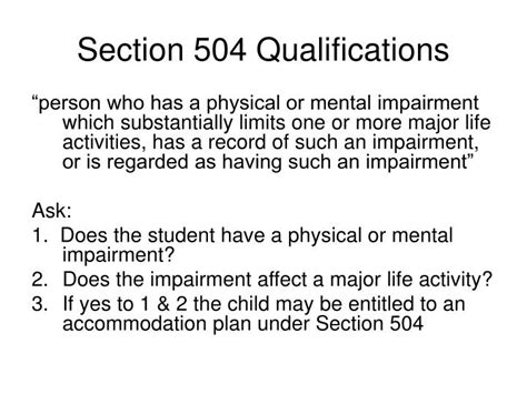 section 504 of public law 93 112 ppt legal issues in special education powerpoint