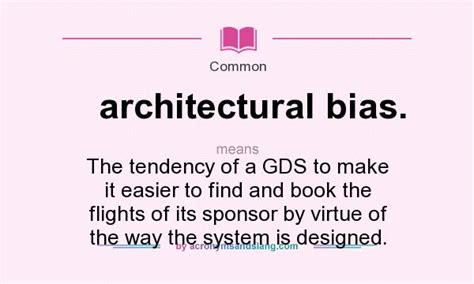 Does An Mba Make It Easier To Find Work by What Does Architectural Bias Definition Of