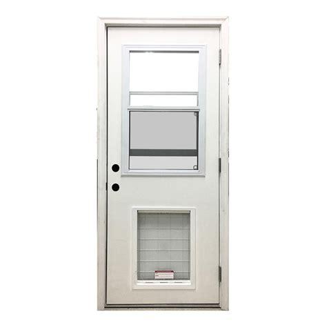 door with door steves sons 36 in x 80 in classic vented half lite lhos white primed textured