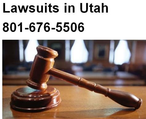 law suites lawsuits in utah 801 676 5506 free consultation